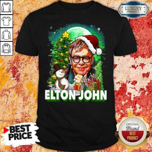 "Elton John Santa Snowman Merry Christmas Signature Shirt ""-Design By Soyatees.com"