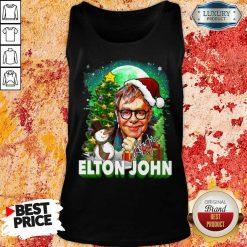Elton John Santa Snowman Merry Christmas Signature Tank Top-Design By Soyatees.com