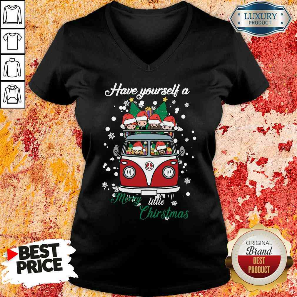 Happy Harry Potter Have Yourself A Merry Little Christmas V-neck-Design By Soyatees.com