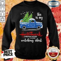 Happy Indianapolis Colts This Is My Hallmark Christmas Movies Watching Sweatshirt-Design By Soyatees.com