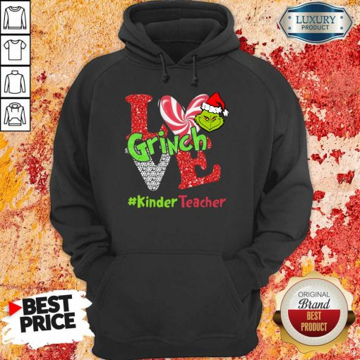 Love Grinch #Kinderteacher Christmas Hoodie-Design By Soyatees.com