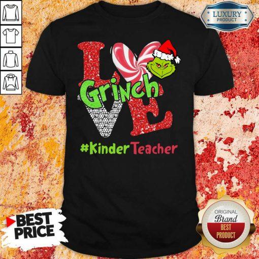 Love Grinch #Kinderteacher Christmas Shirt-Design By Soyatees.com