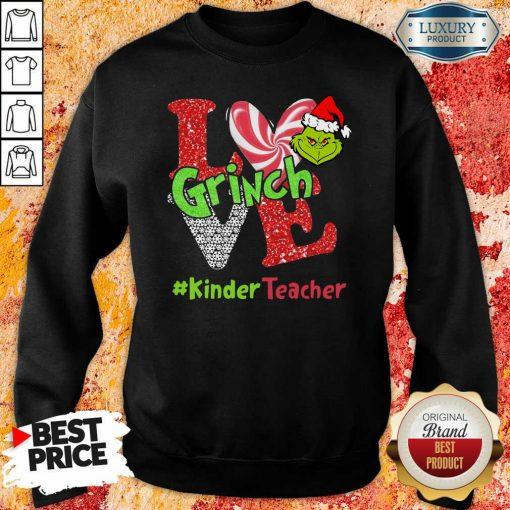 Love Grinch #Kinderteacher Christmas Sweatshirt-Design By Soyatees.com