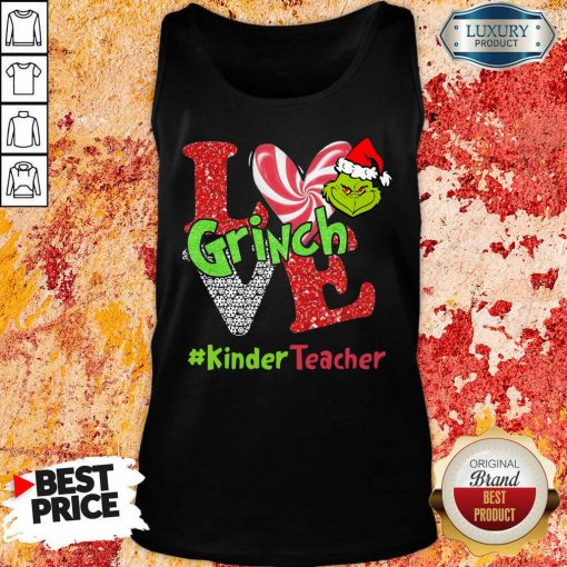Love Grinch #Kinderteacher Christmas Tank Top-Design By Soyatees.com