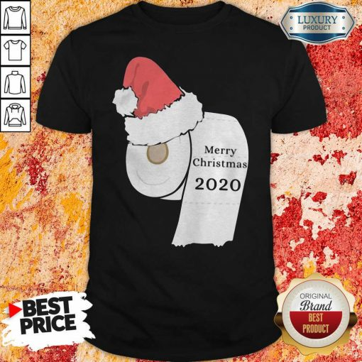 Santa Hat Toilet Paper Merry Christmas 2020 ShirtDesign By Soyatees.com