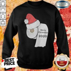 Santa Hat Toilet Paper Merry Christmas 2020 Sweatshirt-Design By Soyatees.com