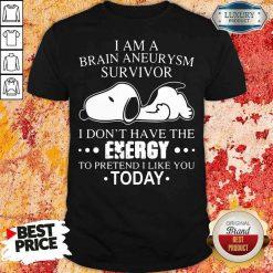 Happy Snoopy I Am A Brain Aneurysm Survivor Tee Shirt-Design By Soyatees.com