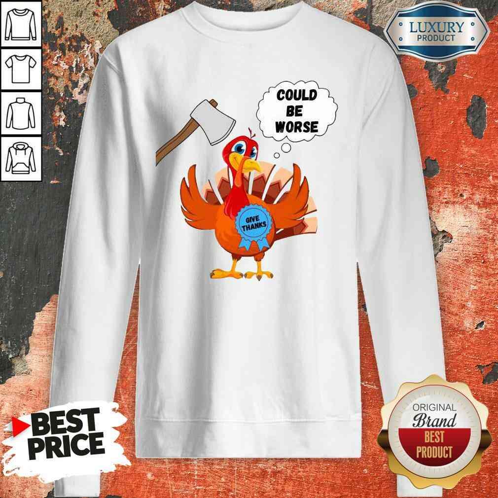 Happy Thanksgiving 2020 Give Thanks Turkey Sweatshirt-Design By Soyatees.com