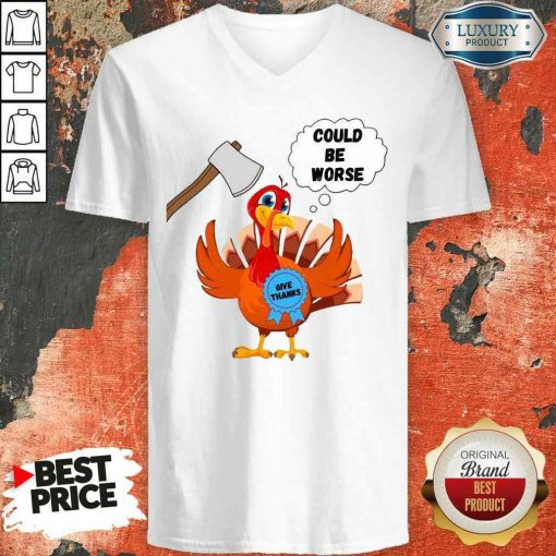 Happy Thanksgiving 2020 Give Thanks Turkey V-neck-Design By Soyatees.com