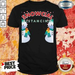 Hot 02 Snowcial Wear Mask Distancing Merry Christmas Shirt-Design By Soyatees.com