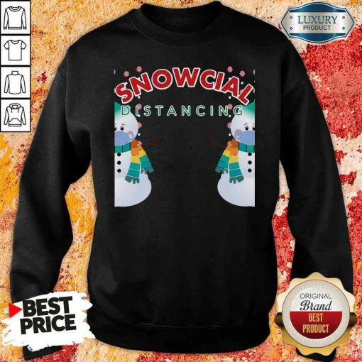 Hot 02 Snowcial Wear Mask Distancing Merry Christmas Sweatshirt-Design By Soyatees.com