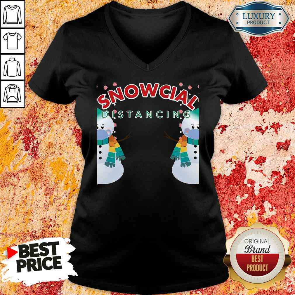 Hot 02 Snowcial Wear Mask Distancing Merry Christmas V-neck-Design By Soyatees.com