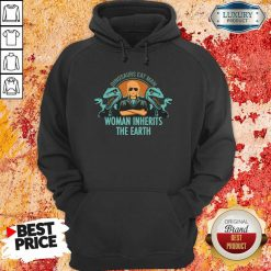 Dinosaurs Eat Man Woman Inherits The Earth Hoodie-Design By Soyatees.com