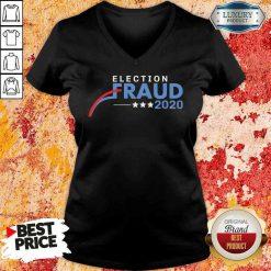 Hot Fraud 2020 Trump Biden Election Results Voter Fraud 2020 V Neck-Design By Soyatees.com