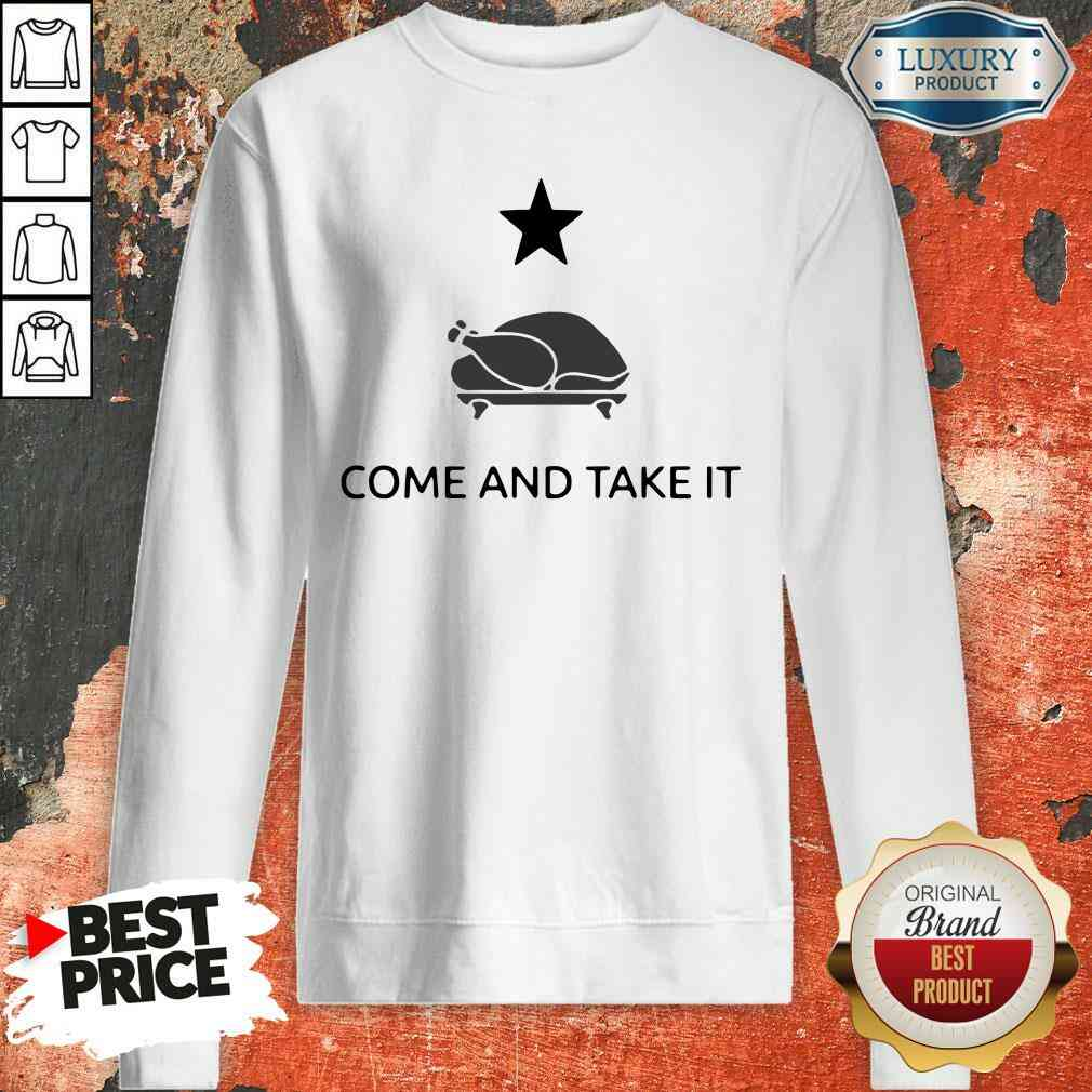 Hot Gonzales Texas Come And Take It Thanksgiving Sweatshirt-Design By Soyatees.com
