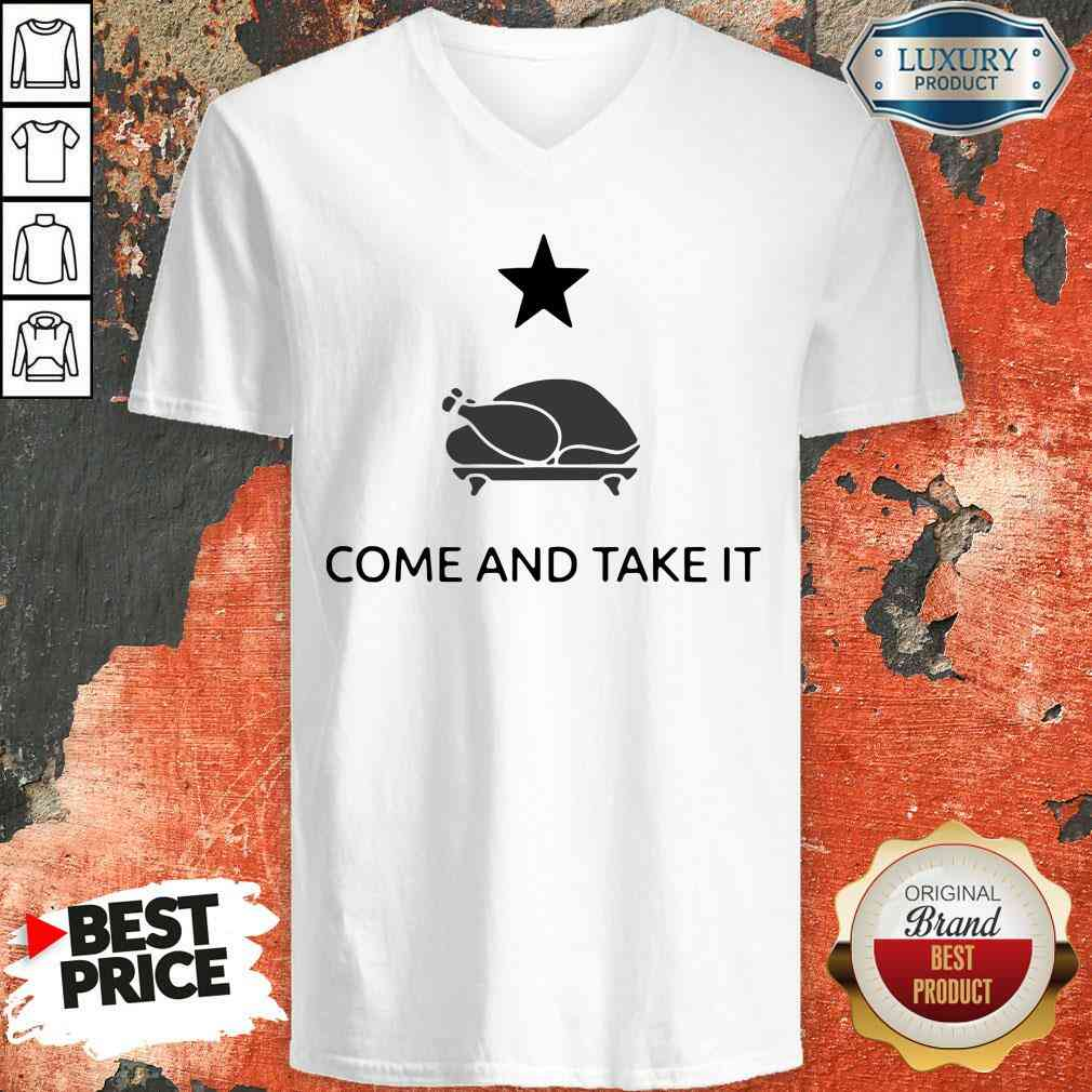 Hot Gonzales Texas Come And Take It Thanksgiving V-neck-Design By Soyatees.com
