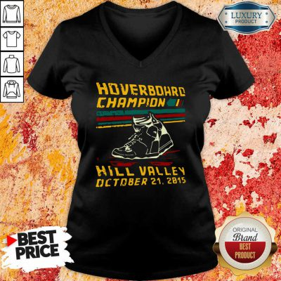 Hoverboard Champion Hill Valley October 21 2015 V-neck-Design By Soyatees.com