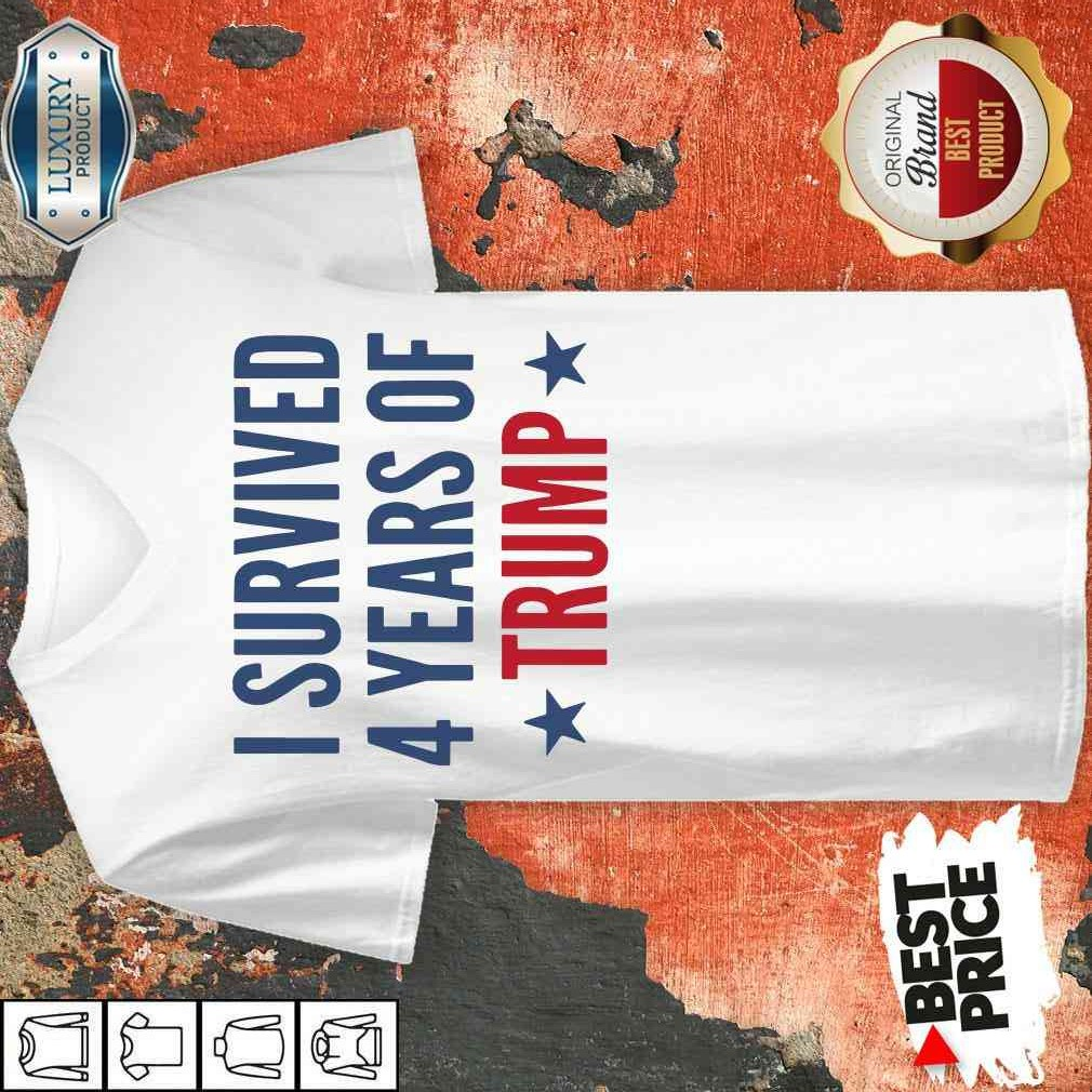 I Survived 4 Years Of Trump V-neck-Design By Soyatees.com