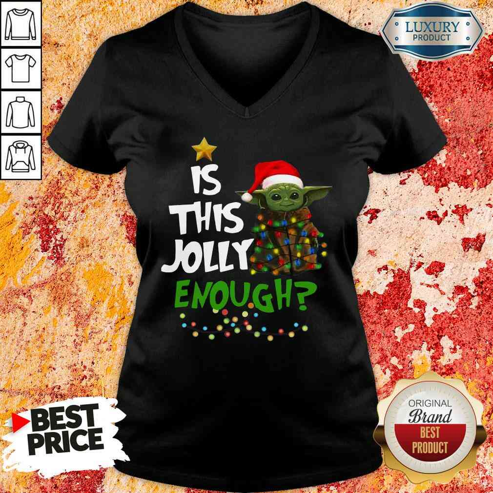 Hot Is This Jolly Enough V-neck-Design By Soyatees.com