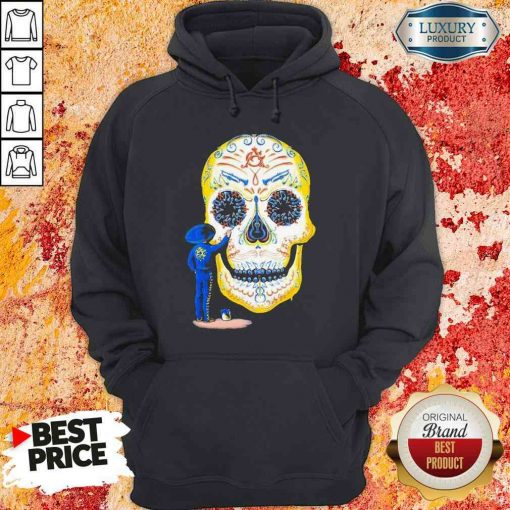 Hot Painter Sugar Skull And Music Hoodie-Design By Soyatees.com