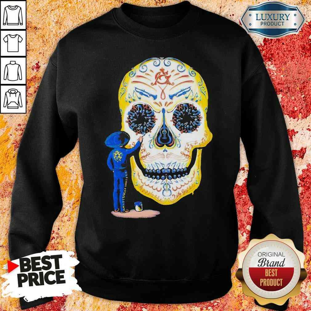 Hot Painter Sugar Skull And Music Sweatshirt-Design By Soyatees.com