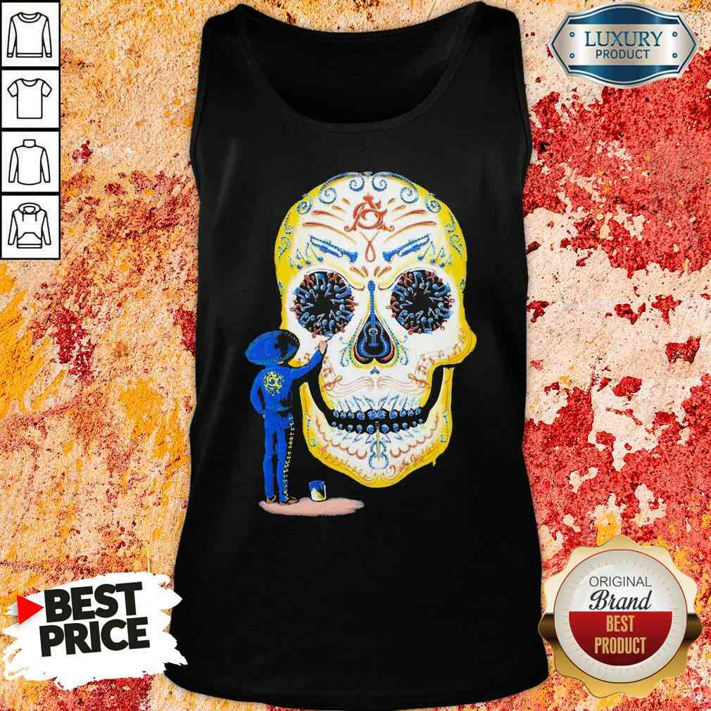 Hot Painter Sugar Skull And Music Tank Top-Design By Soyatees.com
