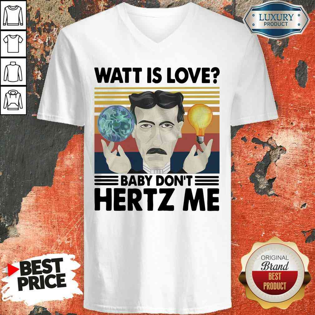 Hot Science What Is Love Baby Don'T Hertz Me Vintage V-neck-Design By Soyatees.com