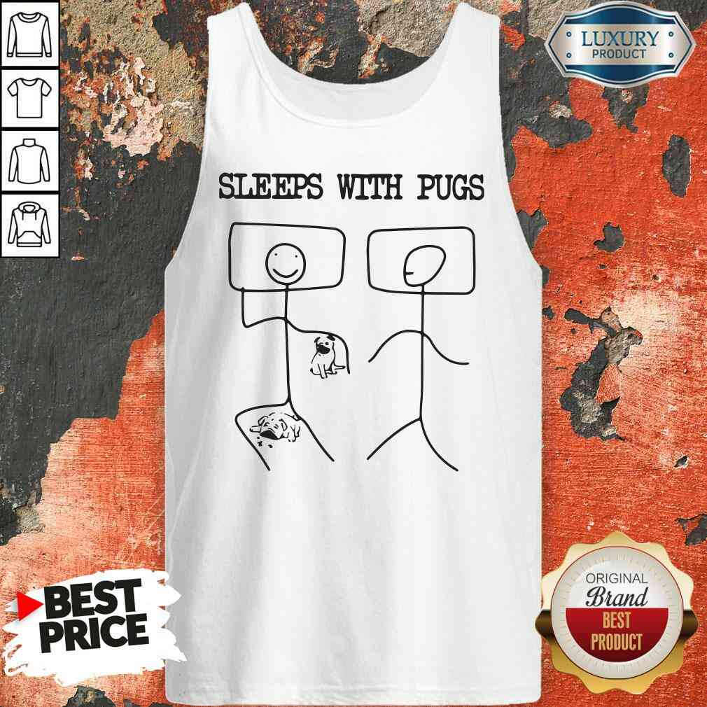 Hot Sleeps With Pugs  Tank Top-Design By Soyatees.com