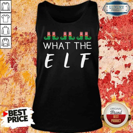 Hot What The Elf Funny Christmas Pajama Tank Top-Design By Soyatees.com