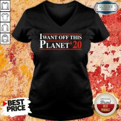 I want off this Planet 22 V-neck-Design By Soyatees.com