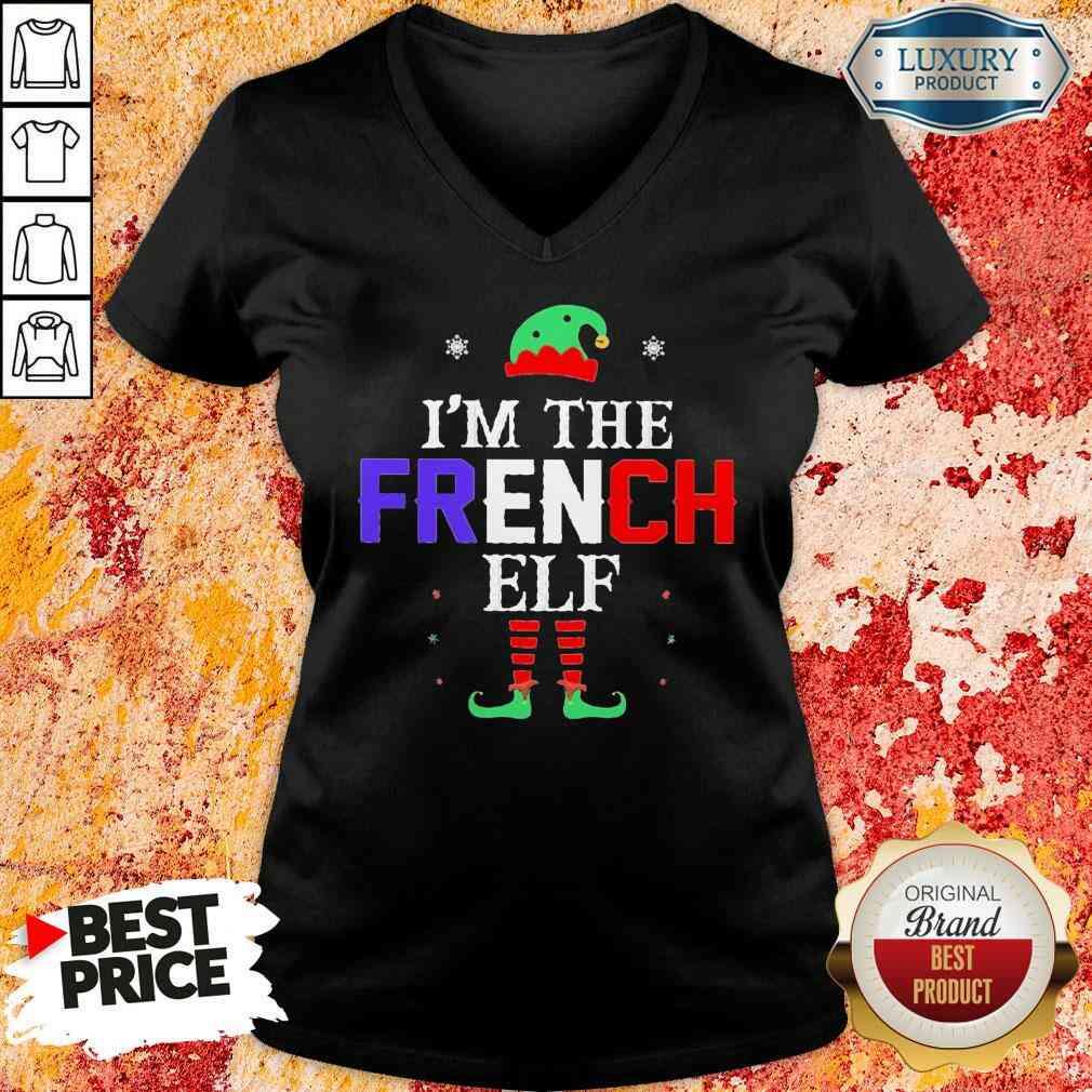 Im french Elf Christmas V-neck-Design By Soyatees.com