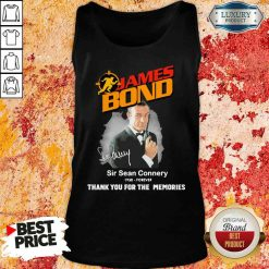 James Bond Sir Sean Connery 1930 forever thank you for the memories signature Tank Top-Design By Soyatees.com
