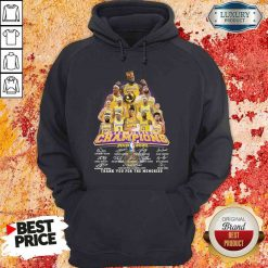 King Los Angeles Lakers NBA finals Champions 2019-2020 thank you for the memories signatures Hoodie-Design By Soyatees.com