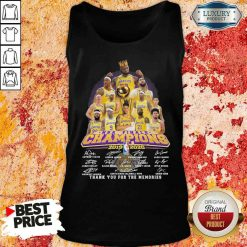 King Los Angeles Lakers NBA finals Champions 2019-2020 thank you for the memories signatures Tank Top-Design By Soyatees.com