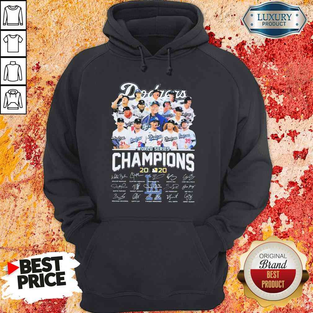 Los Angeles Dodgers world series Champions MLB 2020 signatures  Hoodie-Design By Soyatees.com