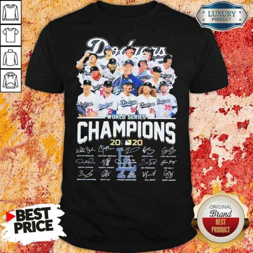 Los Angeles Dodgers world series Champions MLB 2020 signatures shirt-Design By Soyatees.com