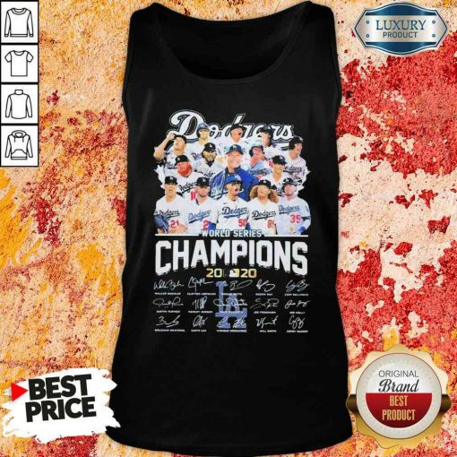 Los Angeles Dodgers world series Champions MLB 2020 signatures Tank Top-Design By Soyatees.com