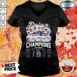 Los Angeles Dodgers world series Champions MLB 2020 signatures V-neck-Design By Soyatees.com