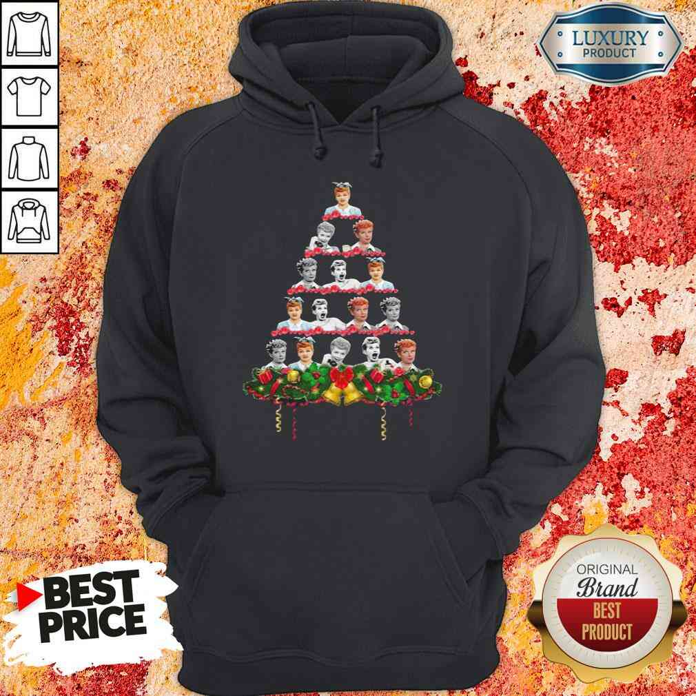 Lucille Ball Christmas Tree Sweater Hoodie-Design By Soyatees.com