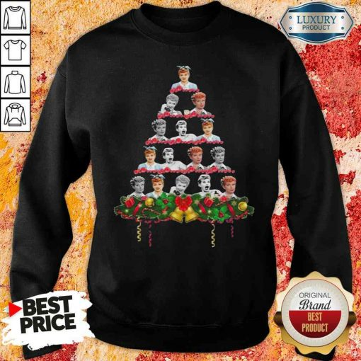 Lucille Ball Christmas Tree Sweater -Design By Soyatees.com