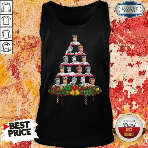 Lucille Ball Christmas Tree Sweater Tank Top-Design By Soyatees.com