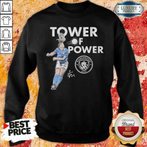 Manchester City Sam Mewis Tower of power signature Sweatshirt-Design By Soyatees.com
