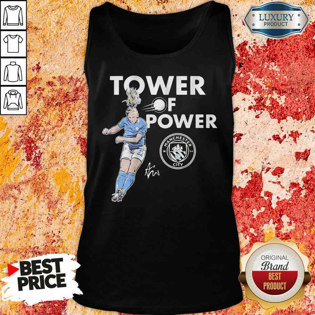 Manchester City Sam Mewis Tower of power signature Tank Top-Design By Soyatees.com