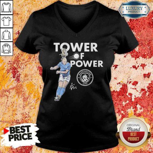 Manchester City Sam Mewis Tower of power signature V-neck-Design By Soyatees.com