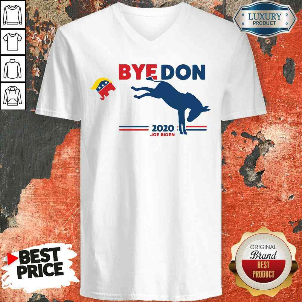 Nice Bye Don Donkey 2020 Joe Biden V-neck-Design By Soyatees.com