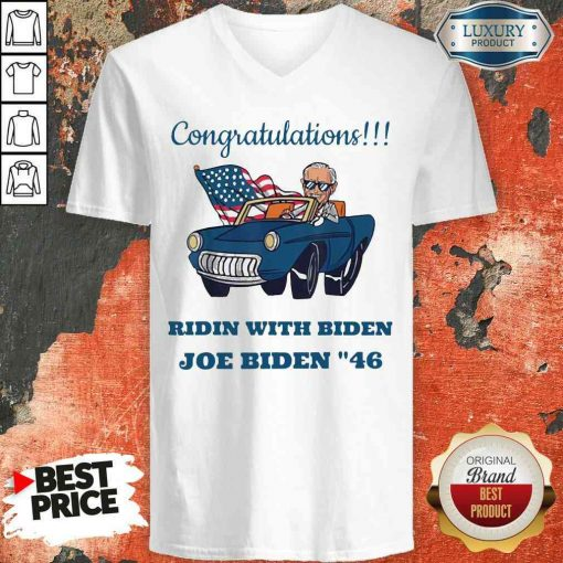 Nice Congratulations President Joe Biden 46 Biden Harris Unisex V Neck-Design By Soyatees.com