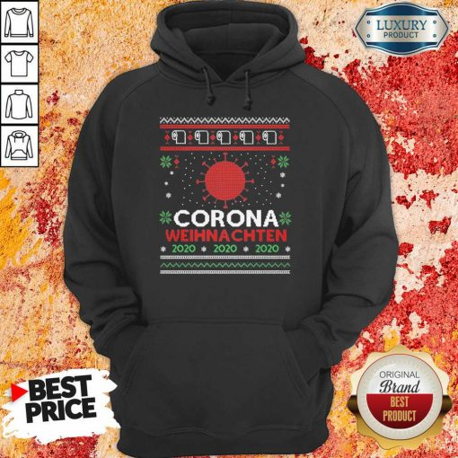 Nice Corona Weihnachten 2020 Ugly Christmas Hoodie-Design By Soyatees.com