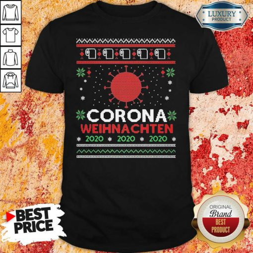 Nice Corona Weihnachten 2020 Ugly Christmas Shirt-Design By Soyatees.com