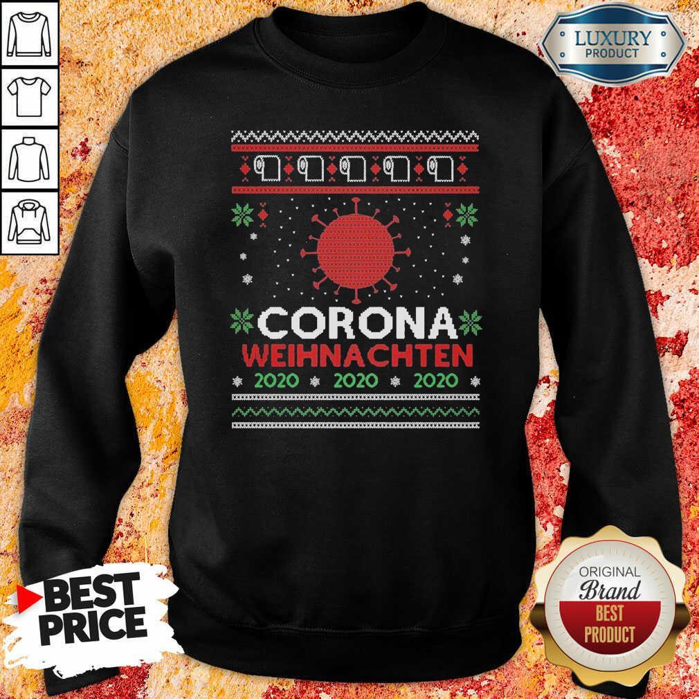 Nice Corona Weihnachten 2020 Ugly Christmas Sweatshirt-Design By Soyatees.com