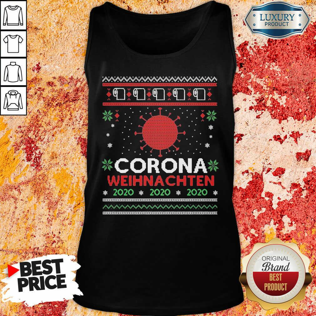 Nice Corona Weihnachten 2020 Ugly Christmas Tank Top-Design By Soyatees.com